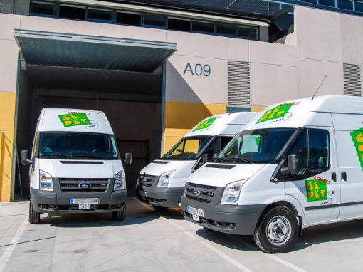 tres furgones entrada